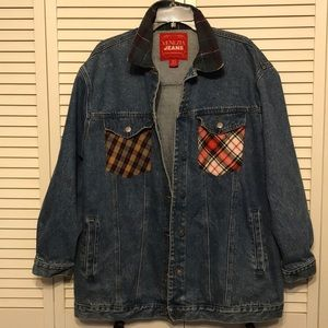 Vintage Venezia  jean Denim Jacket /!Plaid SZ14-16